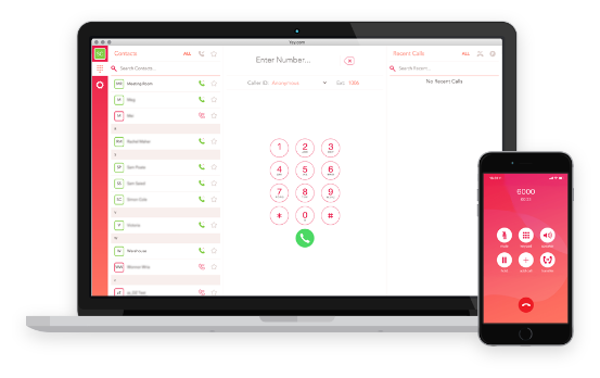 Your business phone system in a calling app