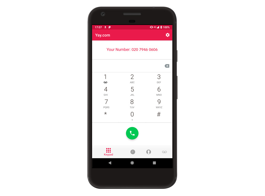 Free VoIP calling app for Android number page