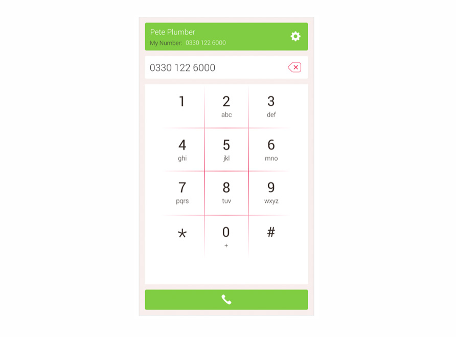 Free VoIP calling app for desktop number page