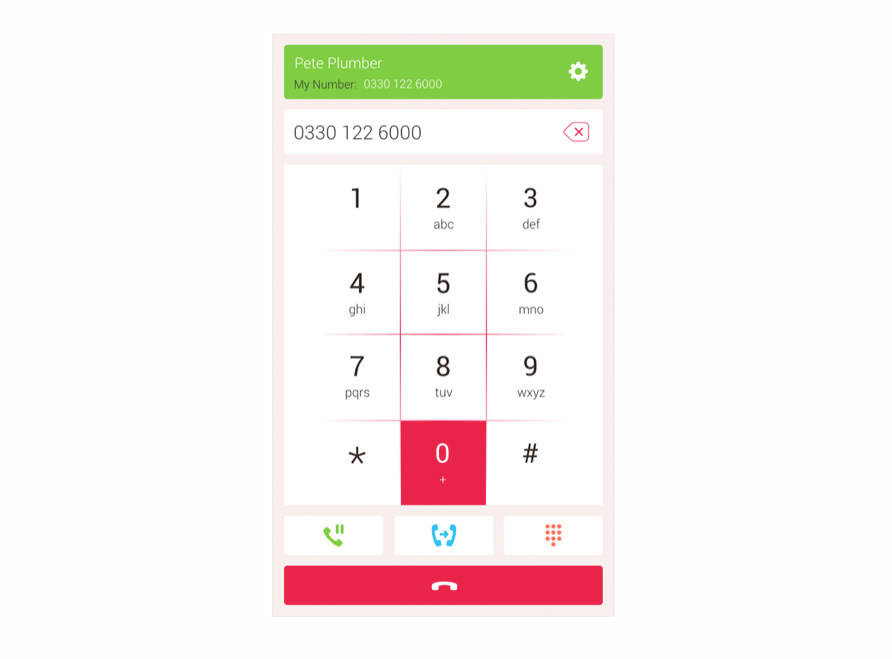 Free VoIP calling app for desktop calling page