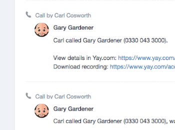 Capsule CRM integration with Call Recordings