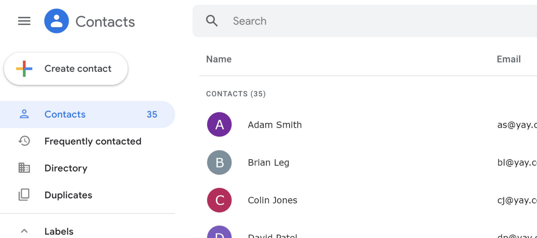 Identify inbound calls from your Google Contacts